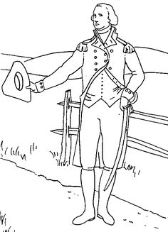 George Washington Coloring Pages