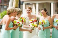 Hot day but beautiful bridal party.