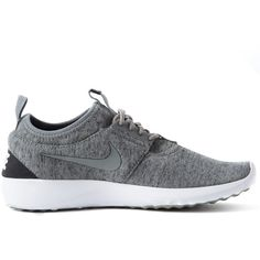 Nike Grey Juvenate Fleece Trainer ($120) ❤ liked on Polyvore featuring shoes, sneakers, travel shoes, nike footwear, low shoes, traction shoes and lightweight sneakers