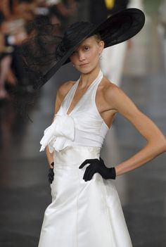 2008 was THE. BEST. YEAR. for millinery for Ralph Lauren at New York Fashion Week Spring 2008 - StyleBistro