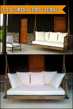 Want To Get The Most Out Of Your Outdoor Living Space? Build A Beautiful  And Comfortable Swing Bed! Get Some Ideas Here.