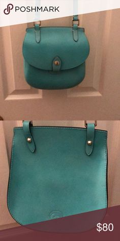 Dooney Bourke Cross Body Purse Turquoise long adjustable Strap with ID tag   Silver Hardware. Never been used Dooney & Bourke Bags Shoulder Bags
