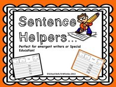 Perfect for emergent writers or special education classrooms! Graduated practice as students become more proficient.