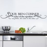 1000 images about citations cuisine on pinterest - Stickers muraux pour cuisine ...