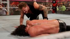 Seth Rollins vs. Kevin Owens - WWE Universal Championship Hell in a Cell Match: photos