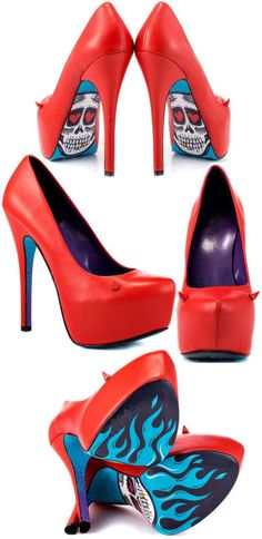 Red Devilicious Horned High Heels <3 http://fab.com/sale/20394/product/301907/?fref=hardpin_type294=Pinterest_Hardpin