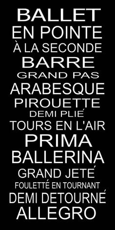 You have to either be a dancer, or french   to understand this ;)
