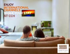 Enjoy a comfortable stay in any of these rooms equipped with cable television. #CCH