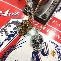 Mesh Skull Pendant is all NEW  #hancholo #jewelry #accessories #skull #silver #gold