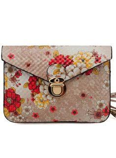 Beige Floral Shoulderbag   SALE