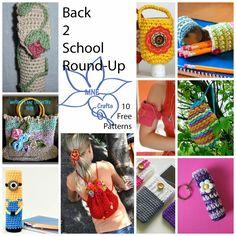 MNE Crafts: Back 2 School Round Up - 10 Free Patterns