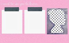Pink and polkadots girly desktop organiser wallpaper!