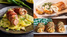 Obaľované kuracie roládky | Recepty.sk Prosciutto, Chicken, Meat, Food, Eten, Meals, Cubs, Kai, Diet