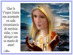 Que la Virgen Maria nos acompañe en cada circunstancia de nuestras vidas, y nos abrigue con su manto de amor!