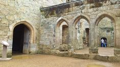 Medieval Arches at Bodiam Castle, National Trust