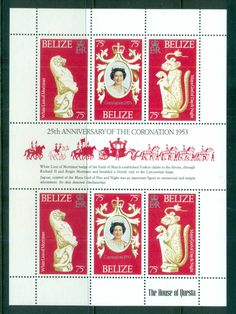 Belize 1978 QEII Coronation, 25th Anniversary , Royalty MS MUH