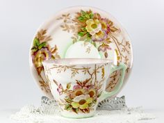 Old Royal Bone China Teacup, Vintage Tea Cup and Saucer, Made in England 12591