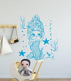 Merveilleux Mermaid Wall Decals Vinyl Decal Sea Ocean Wall Art Decor Mermaid Stickers  Creature Tv Show Cartoon Baby Nursery Bedroom Nautical Decor S71