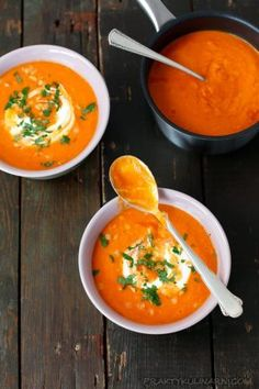 pikantny-krem-z-soczewicy Best Soup Recipes, Clean Recipes, Diet Recipes, Cooking Recipes, Healthy Recipes, Foods With Gluten, Food Inspiration, Good Food, Food Porn