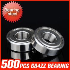 500pcs 684ZZ Bearing 9x4x4mm Deep Groove Ball Bearings For Packaging Machine Precision Measuring Instruments Tool Accessories #Affiliate