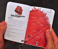 San Francisco / map / passport / red / design