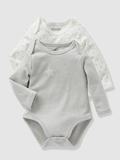 Lote de 2 bodies de mangas compridas, para bebé