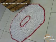 Tapete de Croche Oval com Barbante - 1º Parte