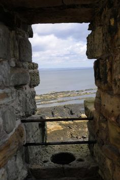 """A loo with a view!"" - St. Andrews Castle, Fife (credit:Son of Groucho,cc-by-2.0.)  (aerial view of Goodrich Castle, looking onto Great Hall from top of Keep)"