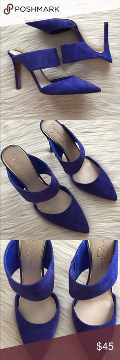 Jessica Simpson | Cobalt Blue Chandra Mule | 12 Gently Used In BOX.  Jessica Simpson Chandra Mule Sandals - Red Muse RARE SIZE 12 Jessica Simpson Shoes Mules & Clogs