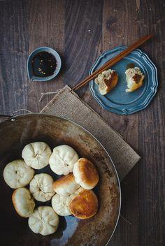 Panfried Pork and Cabbage Shengjian Bao