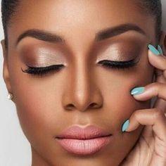 Wedding Makeup Natural Black Women Make Up 45 Ideas For 2019 Wedding Makeup For Brown Eyes, Wedding Makeup Tips, Natural Wedding Makeup, Wedding Makeup Looks, Natural Makeup, Wedding Beauty, Bridal Makeup, Wedding Nails, Natural Hair