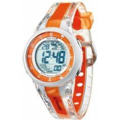 Montre Sector , Montre Digitale Multifonctions Orange - Mixte R3251272915