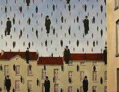 magritte | Magritte- Golconde - Opera d'arte di Pittando - aka It's Raining Men
