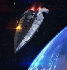 Anaconda Elite Starship 3D Commission by AdamKop.deviantart.com on @deviantART