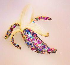 """357 Likes, 1 Comments - BangBangCopenhagen (@bangbangcopenhagen) on Instagram: """"Banana kind of mood #moodofday #glitterbanana #gobananas #glitterbabynails #bangbangcopenhagen"""""""