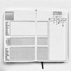 Bullet journal monthly habit tracker, bullet journal monthly mood tracker. | @createalifethatinspires