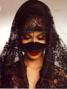 traditional UAE burqa. You know, the Spanish Mantilla was derived from the veil of Arab women.