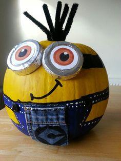 Minion Pumpkin painting