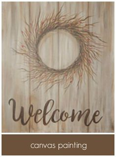 Social Artworking: Welcome Berry Wreath Fall Canvas Painting, Canvas Paintings, Canvas Art, Social Artworking, Berry Wreath, Paint Party, Transfer Paper, Autumn Inspiration, Big Picture
