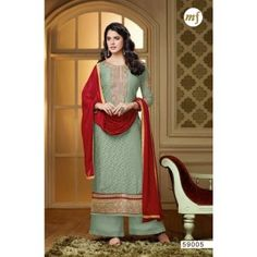 Designer Off Green Kashish Brasso Salwar Suits By Vendorvilla