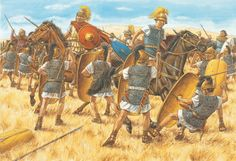 Caesar's reserves rout Pompey's cavalry and turn the tide of history at Pharsalus, 9 August, 48 BC