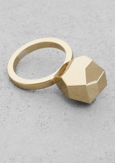 & Other Stories | Geometric Brass Ring | Gold
