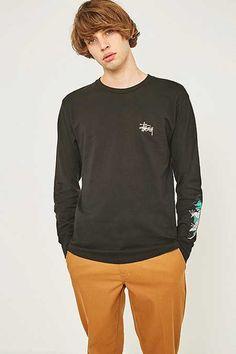 Stussy Wave Dragon Black Long-Sleeve T-shirt