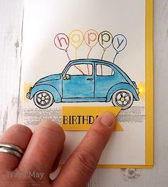 Beautiful Ride from Stampin' Up! Light Up Interactive Birthday Card Tracy May #springsummer2016farewell