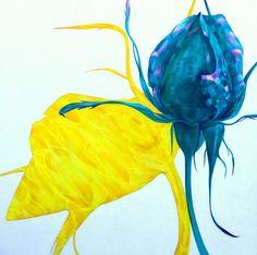 Tulimeri akryyli kankaalle 150 cm x 150 cm Rose Buds, Paintings, Paint, Painting Art, Painting, Painted Canvas, Portrait, Resim, Drawings