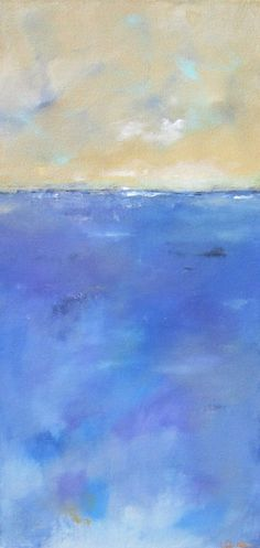 Abstract Landscape Seascape Painting Orignal Art  by lindadonohue, $365.00