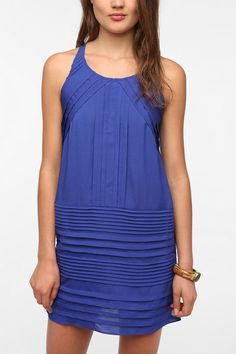 Chandi & Lia Silky Pleated Frock Dress  #UrbanOutfitters