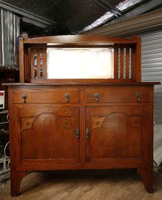 *SOLD* Antique Sideboard Buffet Dresser, circa' 1920's   Other Furniture   Gumtree Australia Wagga Wagga City - Kooringal 1920s Furniture, Mission Furniture, Art Deco Furniture, Funky Furniture, Furniture Makeover, Antique Sideboard, Antique Cabinets, Sideboard Buffet, Selling Antiques