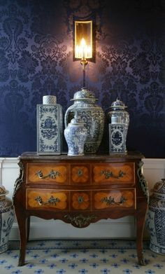 Historical Scottish Castle interior design.  For some reason, I really love wallpaper.(Brave)