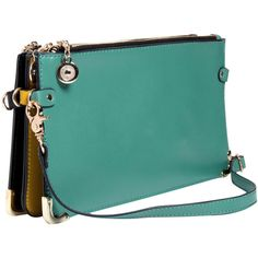 Sara 3 in 1 Block Colour Clutch Bag ($50) found on Polyvore